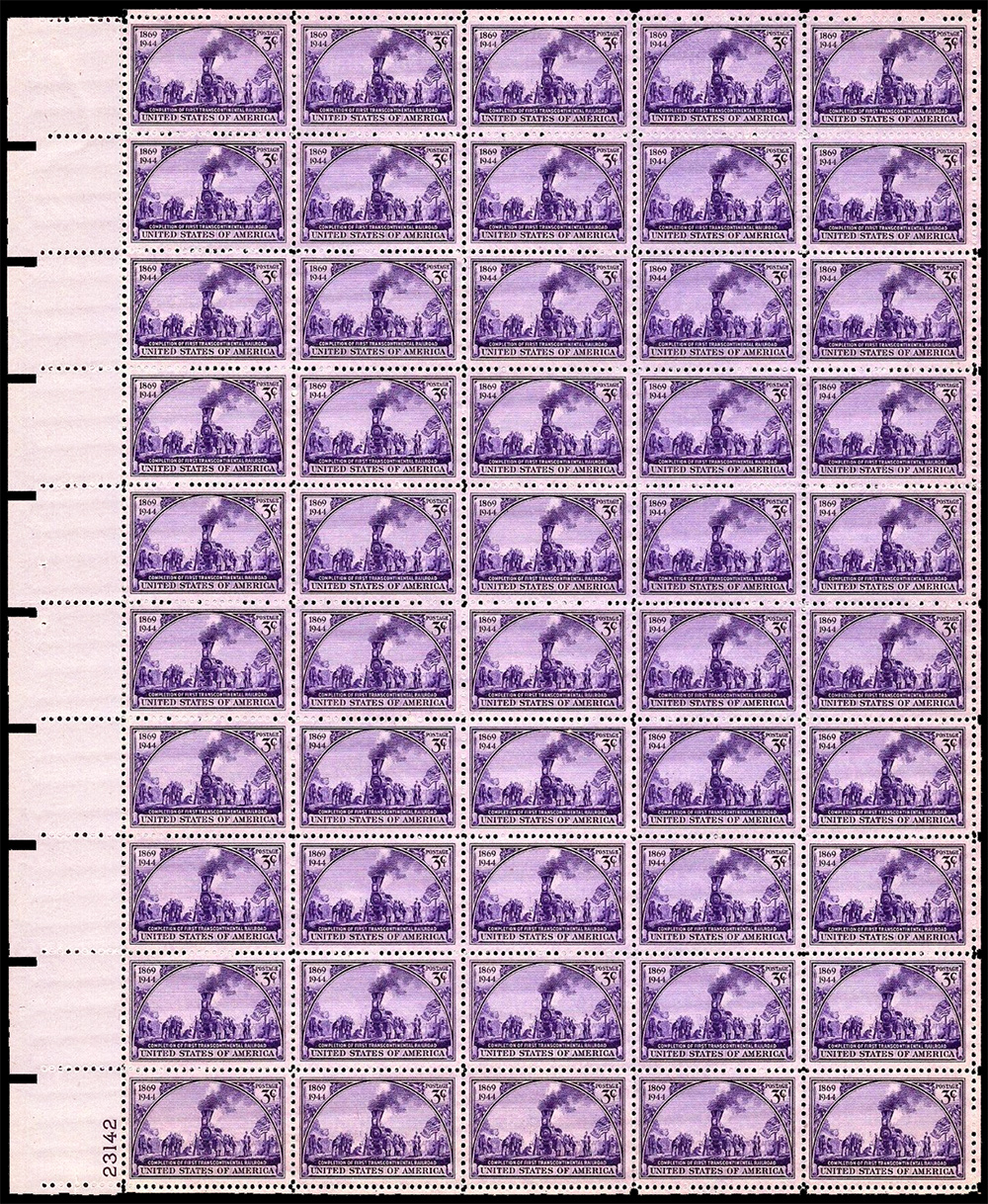 US stamp 922 sheet