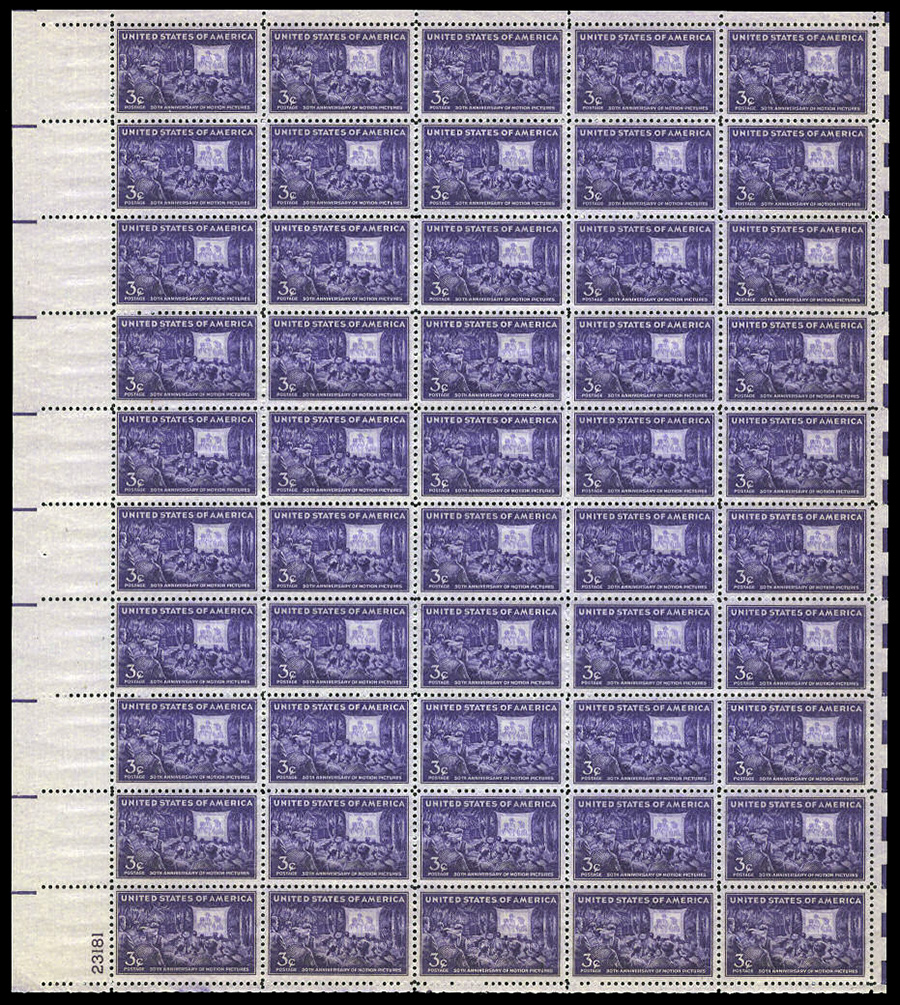 US stamp 926 sheet