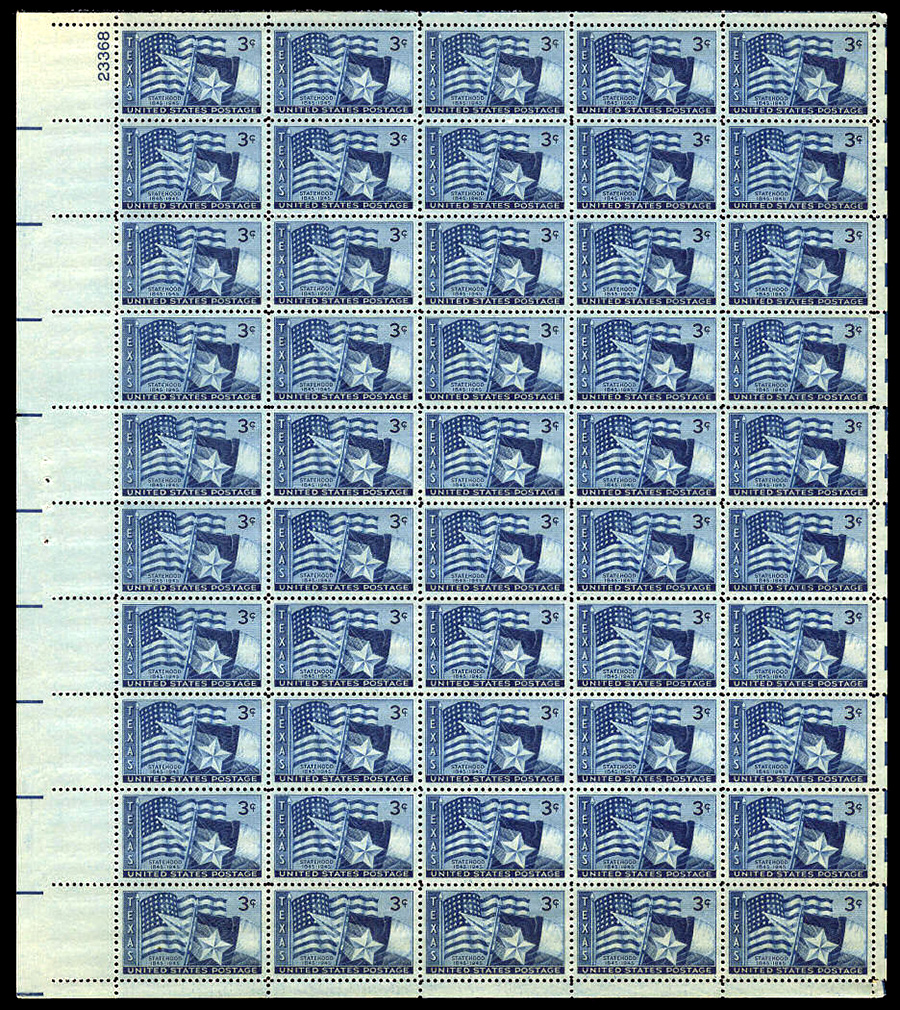 US stamp 938 sheet
