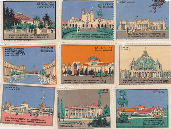 Pacific-Panama Exposition Poster Stamps