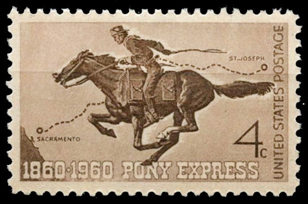 The Pony Express Stamp