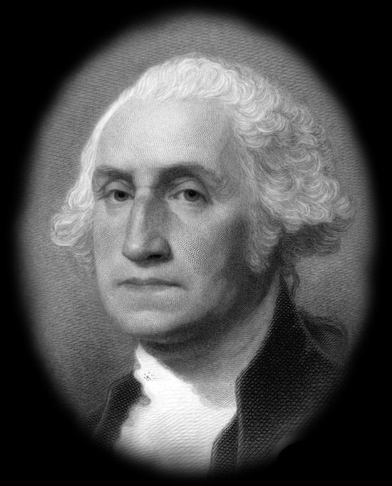 george washington bust engraving